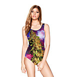 FuLang swim One-Piece Suits   Paige  Thin   sexy backless   fashion   Star print 3D SC086