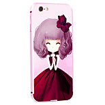 Iris Girl Pattern Metal Frame PC painted  Hard Case for iPhone6/6s/6 Plus/6s Plus