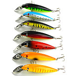 14cm 16.2g/Pcs Bionic Bait Minnow Lures Aluminum Tongue Diving Lure 7 Colors/Set