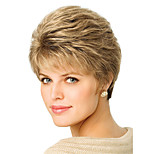 Europe And The United States The New Brown Old Wig 3 inch Natural Straight Short Wigs