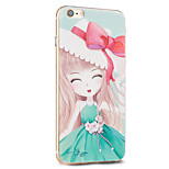 Kakashi Flower Princess Series TPU Painting Soft Case for iPhone 6s / 6 /6s Plus / 6 Plus(Green Sakura)