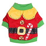 Cute Cartoon Santa Claus Christmas Costume Coat Dogs Clothing for Pets Dogs(Assorted Sizes and Colours)