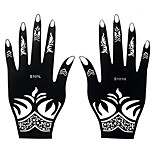 2pcs Henna Indian Black Stencil Temporary Tattoo Body Hand Art Airbrush Painting Sticker S101