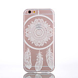 TPU Campanula Dreamcatcher Pattern White Back Case for iPhone 6s 6 Plus