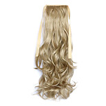 Flaxen Length 50CM Synthetic Curly Hair Wig Horsetail Melange Belt Type(Color 24)