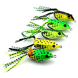 6cm 18.9g/Pcs Topwater Frog Hollow Body Soft Fishing Lures Crankbait Bass Hooks Baits Tackle 5 Pcs/Set