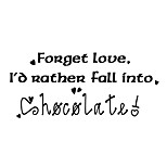 Wall Stickers Wall Decals Style Forget Love English Words & Quotes PVC Wall Stickers