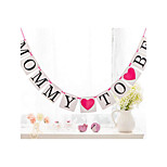 Mommy To BeBanner Baby Shower Decorations Pregnancy Sign Photo Props