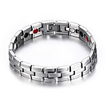 Men's Jewelry Health Care Silver Titanium Steel Magnetic Bracelet