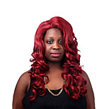 Europe And The United States Sell Wine Red Side 28 Inch Long Hair Big Wig