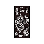 1pc DIY Flower Airbrush Henna Stencil Printing Tattoo Body Art Temporary Painless Tattoo Sticker S229