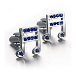 Unisex Fashion Musical Silver Alloy French Shirt Cufflinks (1-Pair)