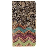 Wave Flower Card Holder Wallet PU Leather Phone Case for Huawei P9/P9lite