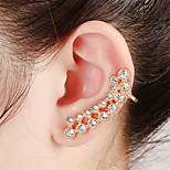 Unisex Fashion Gold/Silver Crystal Alloy Stud Ear Cuffs Earrings Jewelry(1PC)