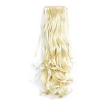 Golden Length 50CM Synthetic Curly Hair Wig Horsetail Melange Belt Type(Color 86/613)