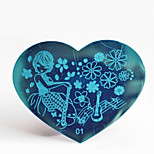 BlueZOO Metal 01 Nail Art Stamping