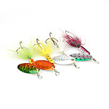 4pcs 6cm/3.5g Fishing Lures Metal Spinner Baits Set