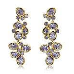 Fashion Luxury Drop Earrings With Clear Stone Lead Free Big Drop Fashion Earring 18K Real Gold & Platinum Plated