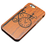 Pear Wooden Vintage Wall Clock Protective Back Cover Hard iPhone Case for iPhone SE/iPhone 5S/iPhone 5