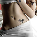 Fashion Temporary Tattoos Cartoons Sexy Body Art Waterproof Tattoo Stickers 5PCS  (Size: 3.74'' by 6.69'')