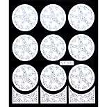 Nail Art Template Sticker-(NF319-White)