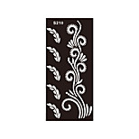 1pc Indian Henna Tattoo Women Body Art Fake Flower Lace Airbrush Stencil Temporary Tattoo Sticker S210
