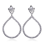 New Luxury Drop Earrings AAA Cubic Zirconia Women EarringsAllergy Free Brass No Lead Bridal Vintage Jewelry