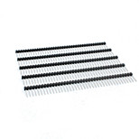 Landa Tianrui TM-DIY 17mm 40-Pin 2.54mm Pitch Straight Pin Header - Black (5PCS)