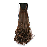 Curly Light Brown Synthetic Bandage Type Pear Hair Wig Ponytail