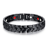 Men's Jewelry Health Care Black Stainless Steel Magnetic Bracelet