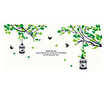 Botanical Birdcage Branch Wall Decals Plane Wall Stickers,pvc 60*90cm