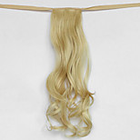 Water Wave Light Golden Blonde Synthetic Bandage Type Hair Wig Ponytail(Color L86)