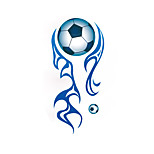 7258 Football Soccer Ball Stickers TV Background Removable Room Wall Decals Boys Hoom Decoration