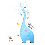 50-170Cm Cartoon Animals Elephant Height Stickers PVC Living Room Bedroom Zoo Wall Stickers