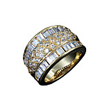 Hot Sale lady 18k gold plated casual Promise Ring