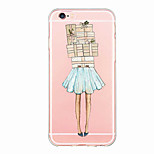 iphone 6s / 6 tpu dame sexy couverture arrière corps transparent / ultra-mince