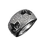 Guaranteed 100% women real zircon inlay wedding Statement Ring