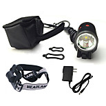 Front Bike Light /Led Headlamps/CREE XML T6 Bicycle Lights 1200 Lumens/Rechargeable/Dual Light Source/8.4V Battery Pack