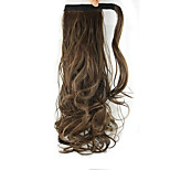 Length Light Brown Wig Curls Ponytail 60CM Synthetic Body Wave High Temperature Wire Color 8