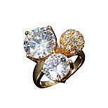 Hot Sale women 18k gold plated casual Promise Ring