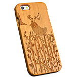 Capa Traseira Ultra Fino / Other Other de madeira Duro BirdsCase Cover ForApple iPhone 6s Plus/6 Plus / iPhone 6s/6