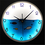 LED Luminous Lovely Night Light Fish Wall Clock