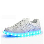 LED's Shoes Women's Synthetic Flat Heel Comfort / Styles  Fashion Sneakers Outdoor / Athletic / Casual Black / White