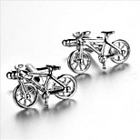 Men's Fashion Bike Style Silver Alloy French Shirt Cufflinks (1-Pair)