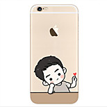 Brother Song  Pattern Transparent TPU painting soft case for iPhone6s/6