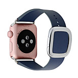 1:1 Original Modern Wind Leather Strap Band With Connector Adapter For Apple Watch Band 38/42mm Strap