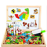 Intelligent 3D Animal Spell Spell, Wooden Magnetic Writing Board, the Board Tablet Educational Puzzles-Land