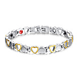 Women's Jewelry Health Care Silver & Gold Titanium Steel Magnetic Bracelet