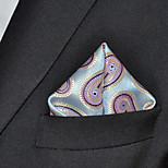 Men's Pocket SquareBlue  100% Silk Wedding Business
