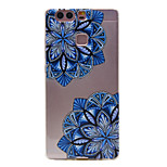 TPU Material Diagonal Flower Pattern Slim Phone Case for Huawei P9 Lite/P9